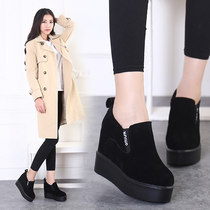 Stealth increases womens shoes in the spring tide wind in England students Scrubs shoes ladies platform shoes wedges platform shoes