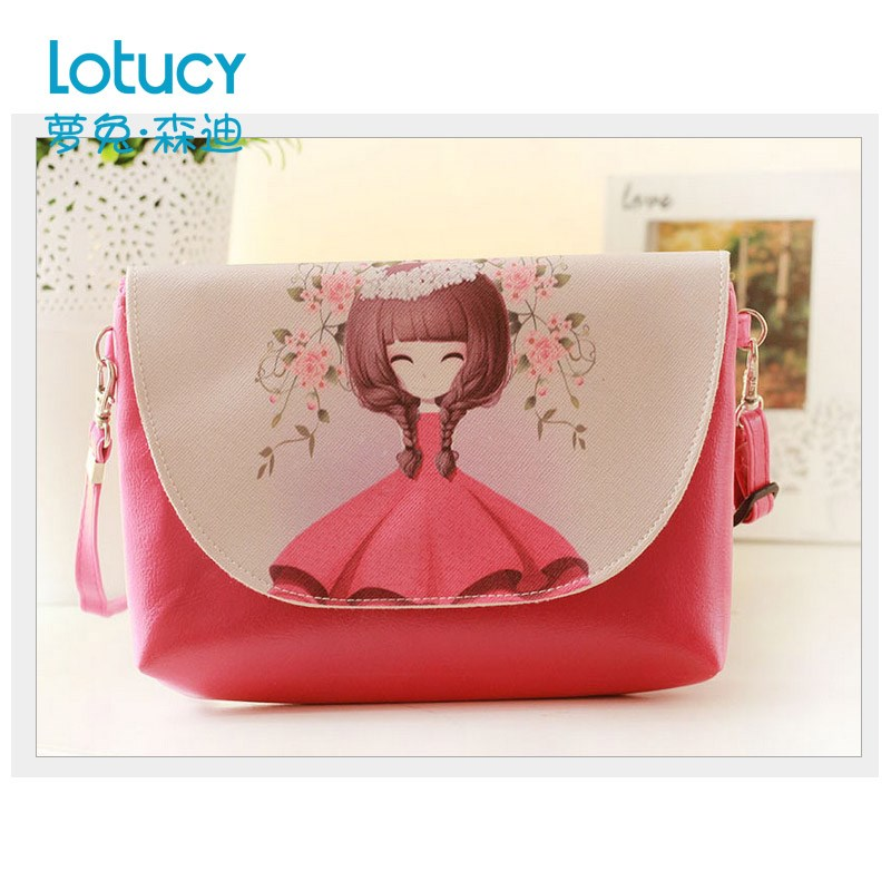 Princess female children's fashion bag girl children bag inclined bag, little cute baby clothes bag girls deserve to act the role of package