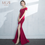 A toast to the bride's 2017 new fashion spring word long shoulder length of the body