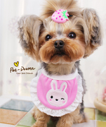 Meng Meng lace pet saliva towel dog Teddy York Summer Saliva towel bib Special ~