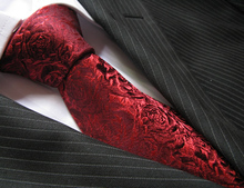 Hunting is marriage tie silk roses beautiful wine red silk tie men's suit bag mail business