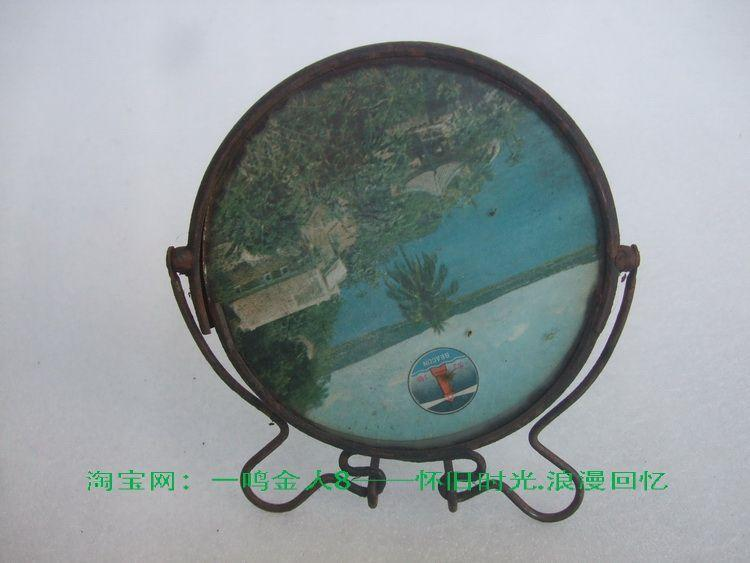 Hot objects, old desktop mirror, folding mirror, desktop, old mirror can be collected, do film and television props, nostalgia installed