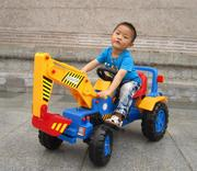 Large excavator children can sit and ride on toy truck excavator toy car music child old boy 6