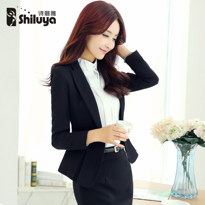 2015 new wear women suits long sleeve fashion Lady dress suit OL woman fall/winter clothes