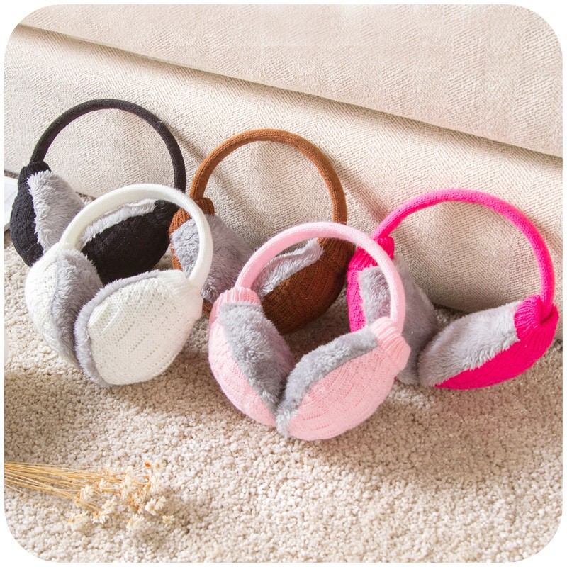 Washable knitted plush earmuff cute Korean warm earmuffs Earmuffs Ear bag of men and women in winter