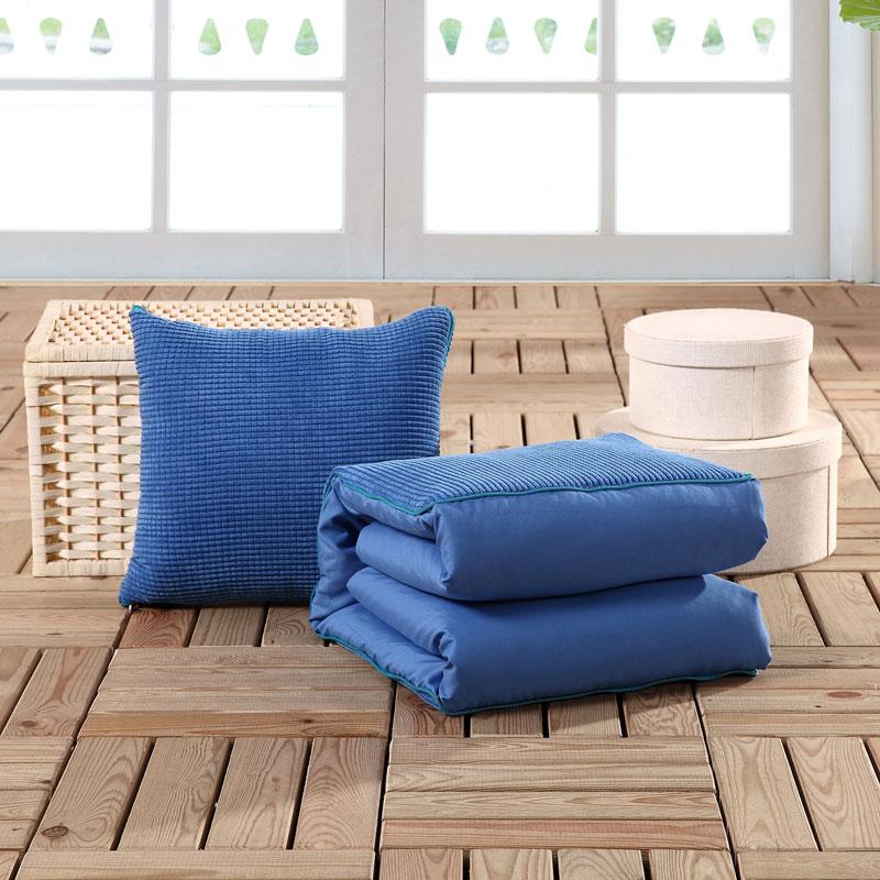 爱上妮 纯色靠垫抱枕被玉米粒靠枕办公室沙发汽车空调被包邮