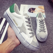 Star with a couple of white shoes casual shoes men shoes leather shoes Korean students fashion small dirty shoes