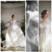 Bridal Veil 2017 new bride married in spring, Korean princess dream long tail, show thin, simple wedding dress