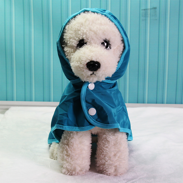 The dog small dog clothes Tactic waterproof raincoat Bichon solid section puppy puppies raincoat Pomeranian raincoat