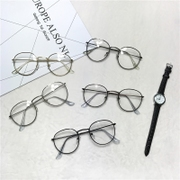 The flat mirror retro Korean students all-match Harajuku small fresh trend lovely ultra light thin box frame glasses