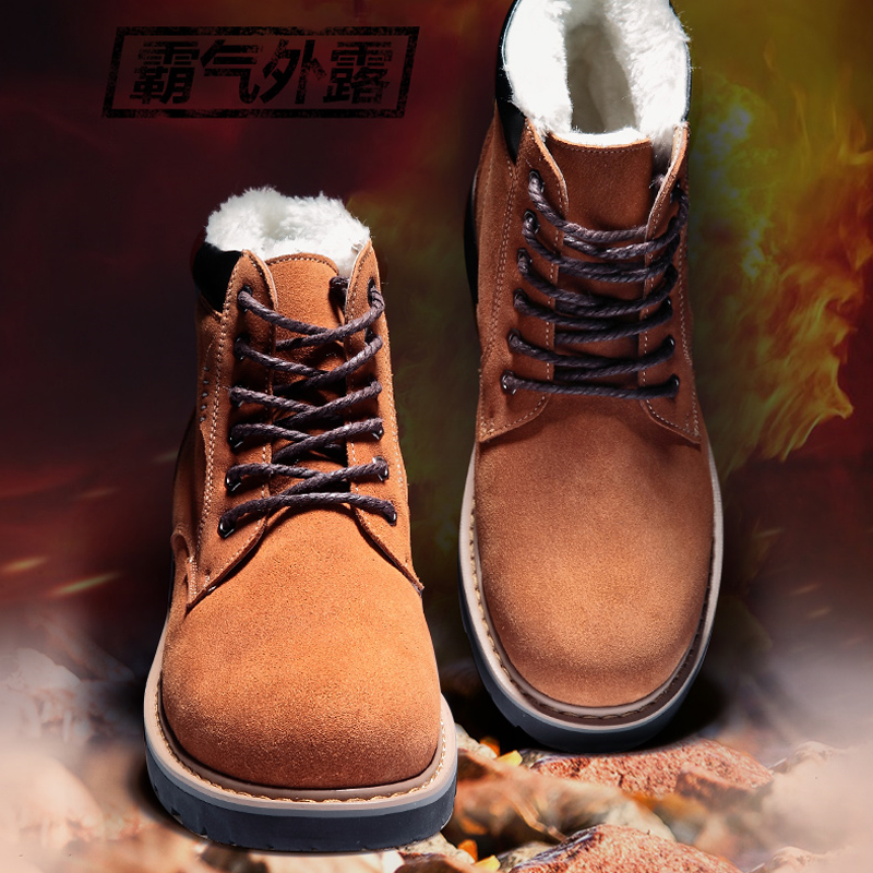New head Martin boots for fall/winter male UK men high shoes leather desert boots and velvet shoes platform ankle boots