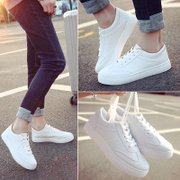 In the spring of 2017 new all-match white shoes shoes Korean white canvas shoes casual shoes and flat shoes students