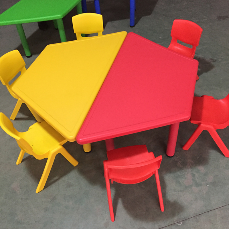 Kindergarten table and chair, children's table and chair set, baby learning table, chair combination, plastic game desk, desk