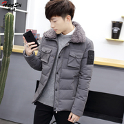 2016 new fashion winter coat man coat short jacket slim young Korean handsome personality style