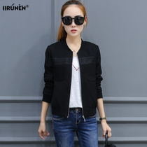 2016 autumn new short bi-ladies leisure loose spring and autumn coat woman long sleeve slim jackets coats tide
