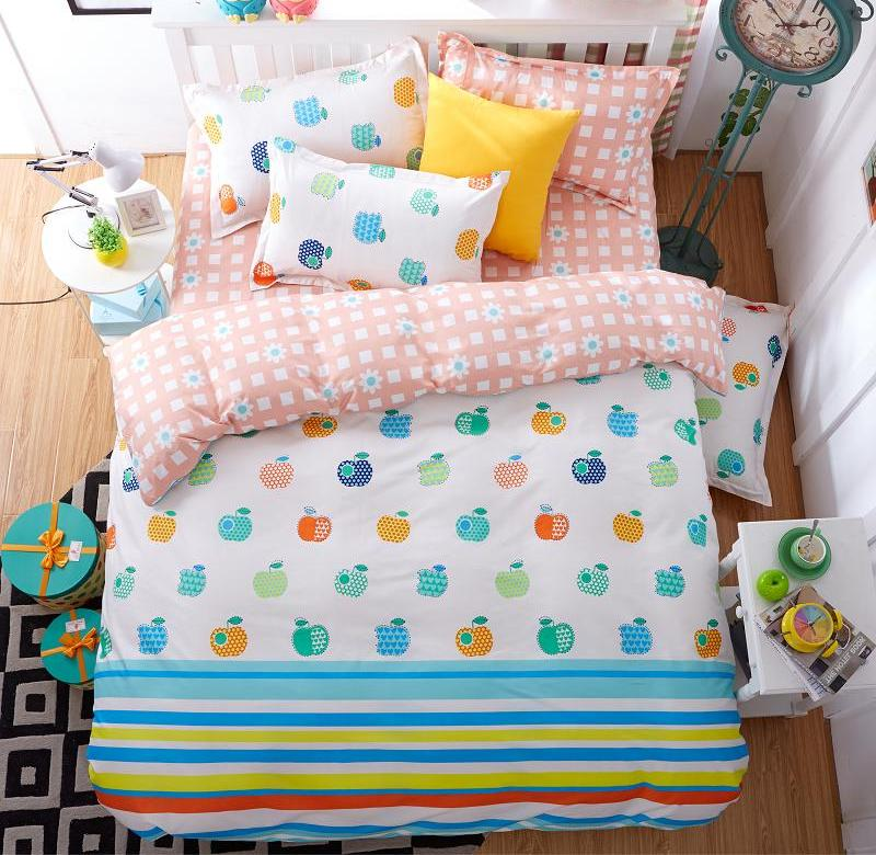 Autumn and winter bedding 1.5/2.0m four pieces of simple double 1.8 quilt student dormitories 1.2 three pieces