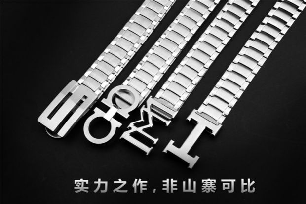 Business casual men metal smooth stainless steel belt buckle creative fashion personality youth outdoor self-defense belt