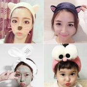Sweet lovely rabbit ears with Korean cat hair wash hair card scarf Japan wide female head ornaments