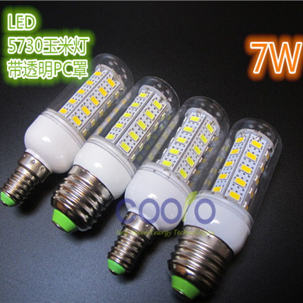 Led energy-saving lamp 5W7W10W220V LED corn light bulb Interior E27/E14 screw bulb 5730