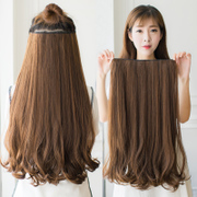 A chip card volume five thick hair extensions in the big wave of long straight hair extensions in the micro simulation hair wig buckle