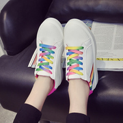 2016 Korean summer casual shoes sneakers canvas shoes shoes white rainbow female student shoes shoes tide
