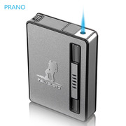 The cigarette lighter creative 10 pack personality portable automatic cigarette ejecting windproof cigarette man simple custom tide