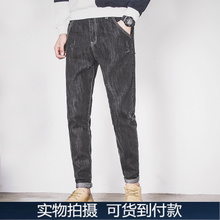 In the spring of the new Japanese retro cat Jeans Pants XL MENS fat young students Metrosexual pants