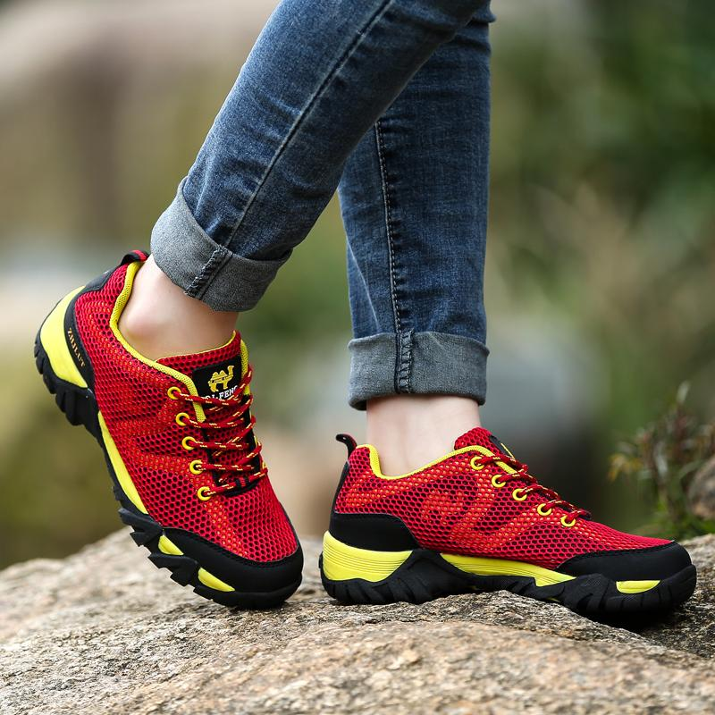 Spring and summer sports, casual shoes, men's nets cloth, outdoor shoes, hiking shoes, running shoes, anti-skid ventilation, net shoes, mountaineering shoes, men and women