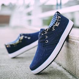 夏季透气帆布鞋男百搭板鞋老北京布鞋男士运动休闲潮鞋工作男鞋子