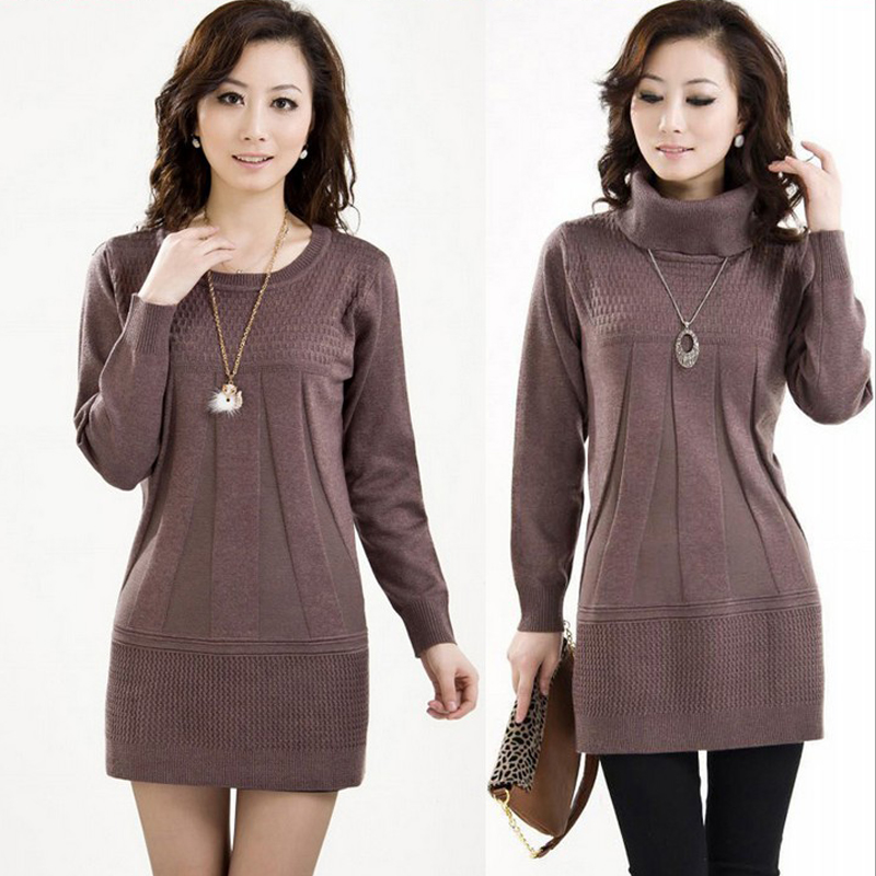 Middle-aged and old women's render middle-aged mother put long qiu dong outfit in the sweater knit long-sleeve pullovers