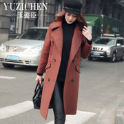 2016 new winter woolen coat in the long winter dress code all-match Korean fashion wool coat tide