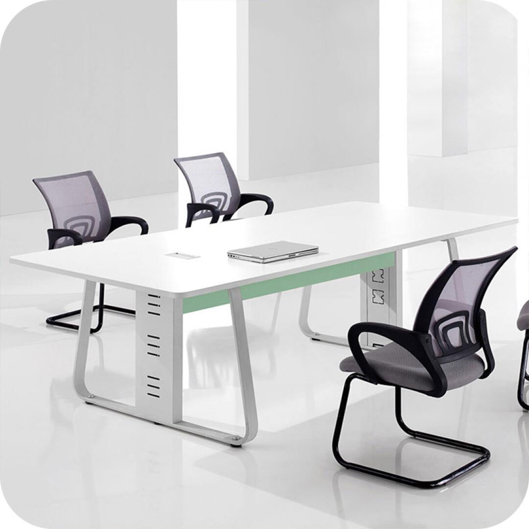 木野 【】办公家具 会议桌椅 板式长条培训洽谈桌 简约现代办公