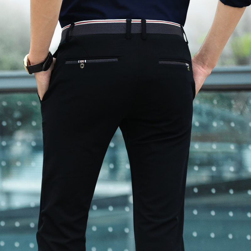 Summer thin men's casual pants, men's trousers, Korean version of self-cultivation, business quality, trends, trousers