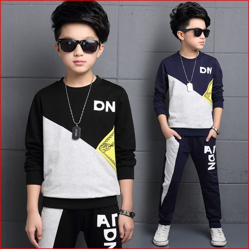 Wheat only chart 2016 New Kids Boys sweater suit spring autumn big tide movement children's wear long sleeved children