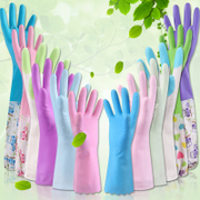 Dishwashing gloves household cleaning latex waterproof thin rubber durable kitchen brush bowl washing clothes plastic rubber