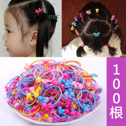 Cute little girl's hair color Tousheng rubber band does not hurt hair hair hair hair ring rope headdress Korean children