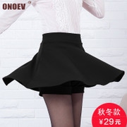 Winter skirt skirt female elastic waist skirt a A-line dress pleated skirt skirt Tutu skirts and backing