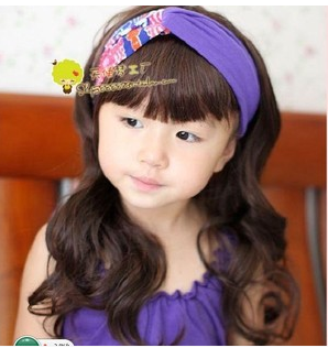 The explosion of South Korean children Liu Qi long hair girls hair wig child big wig