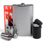 To 1800 ml of 3 and a half pounds with 304 thick stainless steel flagon in portable outdoor portable flat kettle