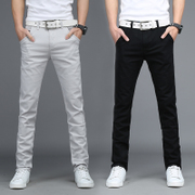 Korean sports pants men's slim slim pants men's summer men's casual pants men's pants straight pants pants