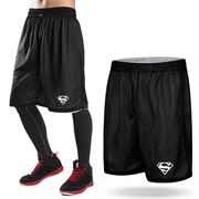 Double sided Basketball Shorts suit Male Basketball Jersey male basketball loose pants suit training pants five knee