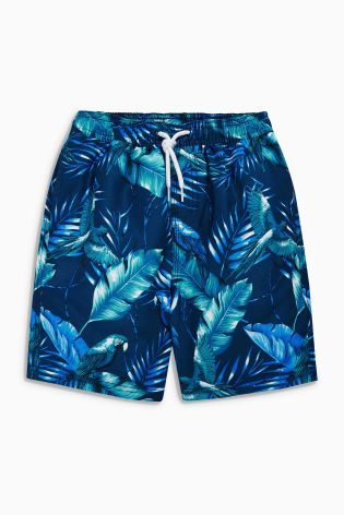 The British NEXT Childrens Boys male baby blue Hibiscus Print strap trunks Hongkong purchasing