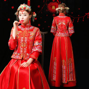 The new 2017 embroidery bride longfeng existing XiuHe take a prospective longfeng existing Chinese style restoring ancient ways a toast the bride wedding dress