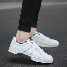 In the summer of 2017 the new trend of Korean men's canvas shoes all-match white sports shoes casual shoes men's shoes