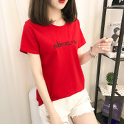 Short sleeved T-shirt summer 2017 new female Korean students all-match cotton loose short sleeve shirt ladies T-shirt