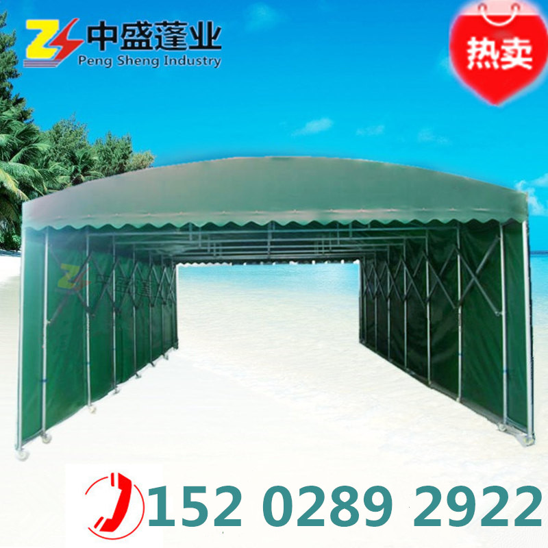The canopy spread mobile tent night market stall retractable awning awning push-pull outdoor barbecue