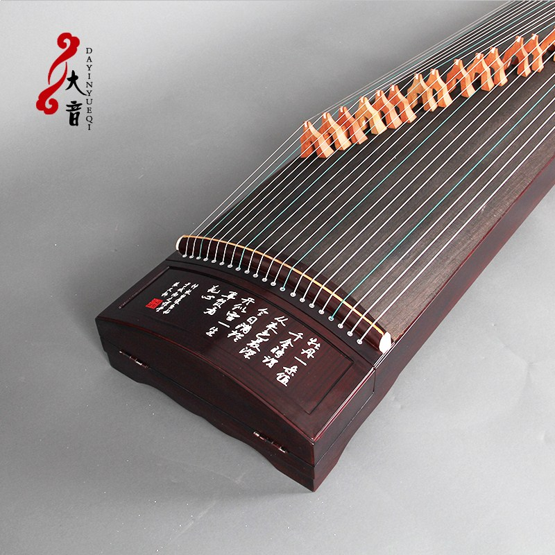 Professional distinction of paulownia butterfly love peony dig guzheng instruments embedded beginners adult solid wood guzheng music to send accessories package mail