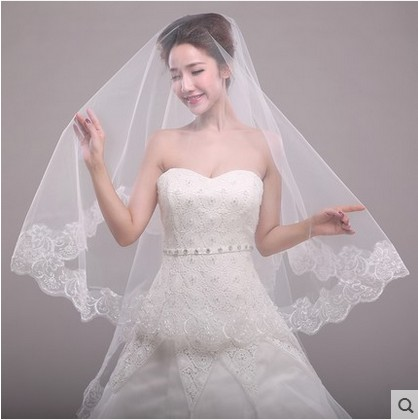 The bride wedding veil wedding accessories new lace white special offer price sale promotion