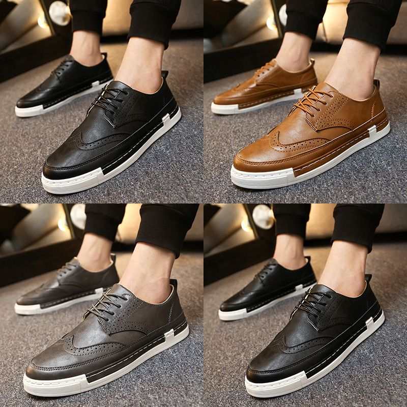 Selling men's shoes breathable 2017 new spring loafers male low tide shoes in British men's leather shoes for business and leisure travelers