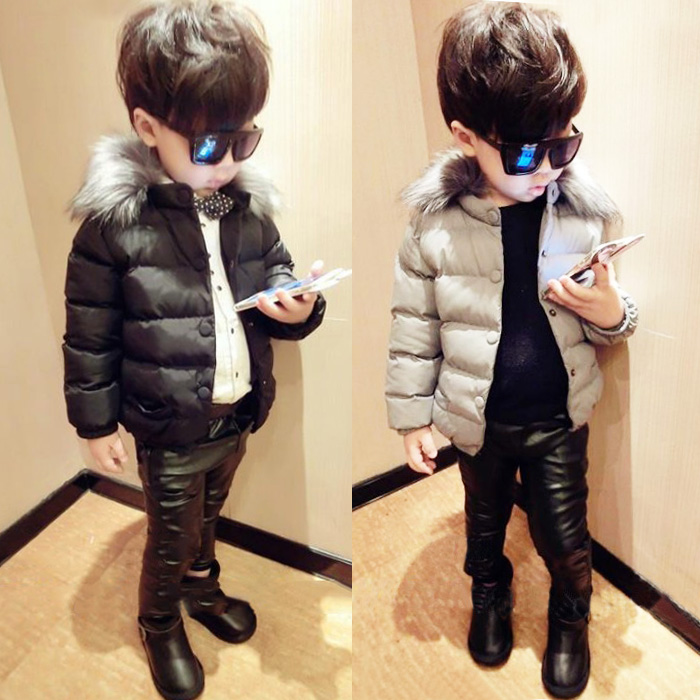 Every day special white children 2-3-7 years old baby boy padded jacket thick cotton padded jacket in winter